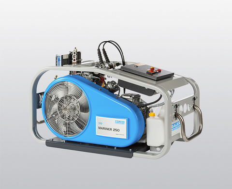 BAUER MARINER 250 breathing air compressor with electric motor and control