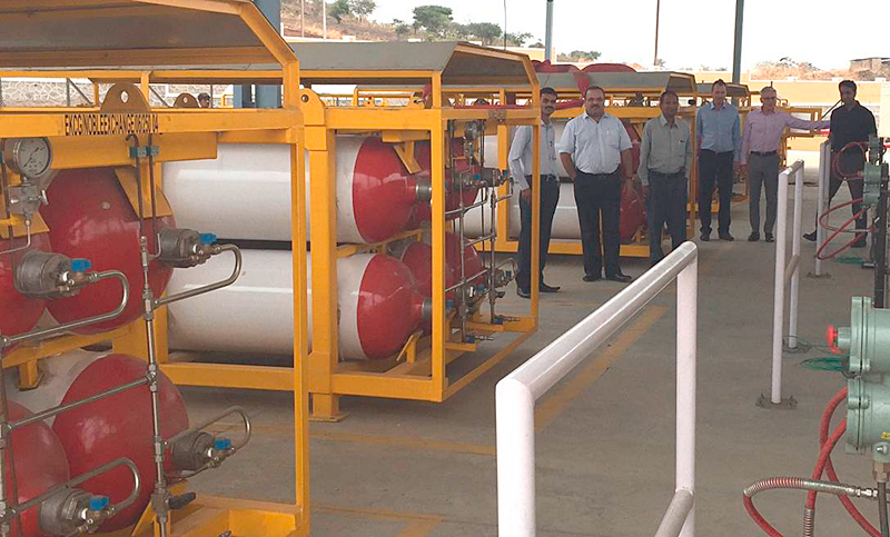 Transportable Storage Cascades (for storing the compressed gas)